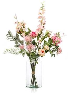 Kuntsbloemen boeket XL Pretty Pink 80 cm