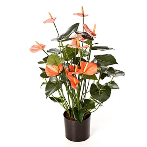 Kunstplant Anthurium de luxe roze