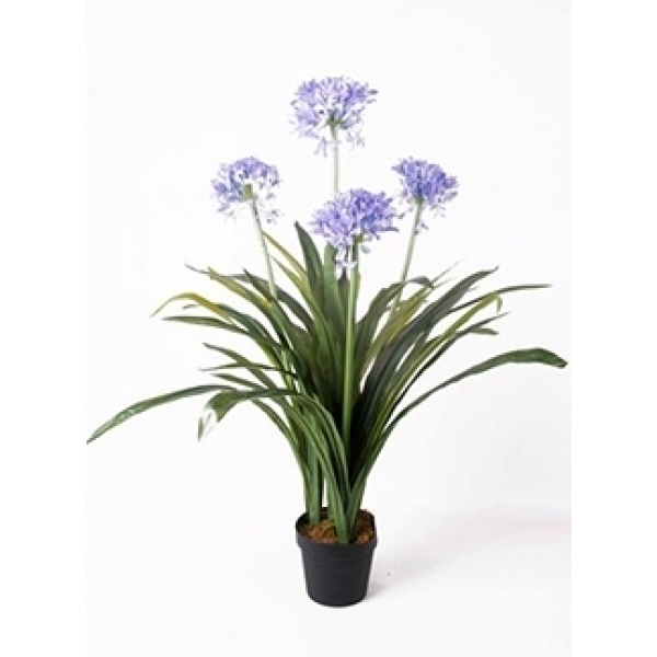 Kunstplant Agapanthus blauw