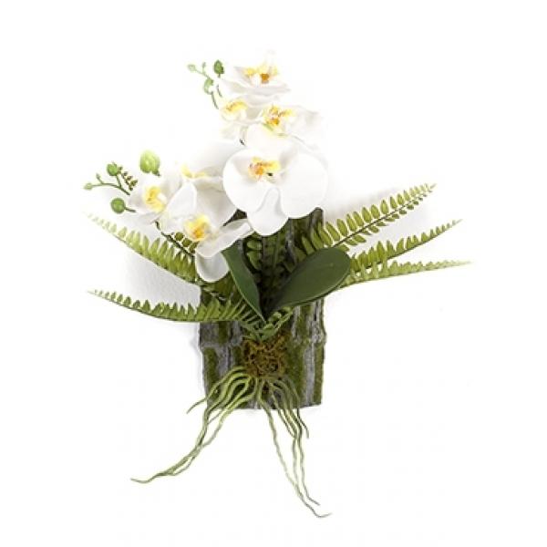 Kunstplant Phalaenopsis fern deco S