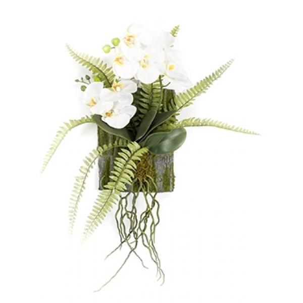 Kunstplant Phalaenopsis fern deco M