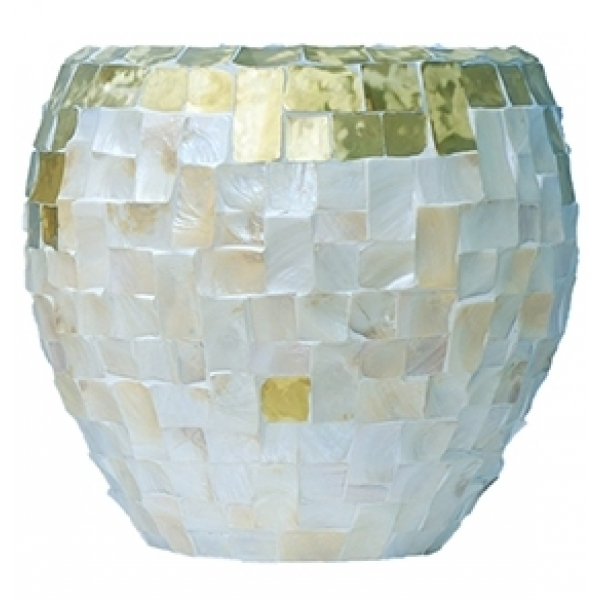Oceana Couple yellow copper/ pearl white 60 cm