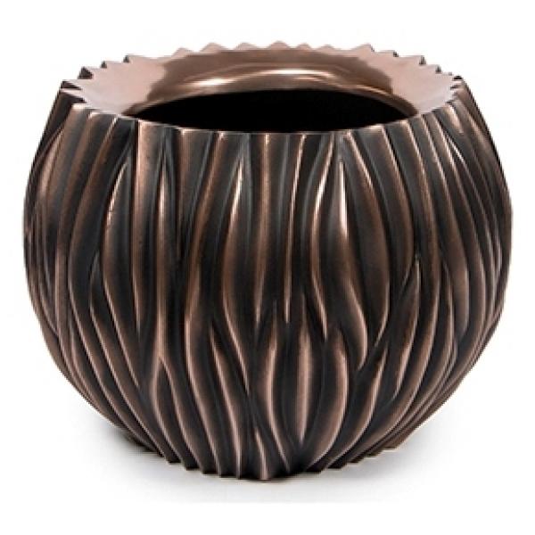 Bloempot River bowl antiek bronze 45 cm