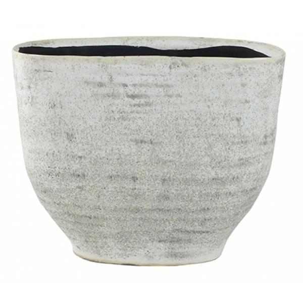 Keramieken plantenschaal Fenna off white cement