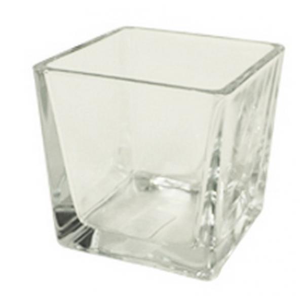 Accubak glas vierkant konisch heavy glas 12 cm