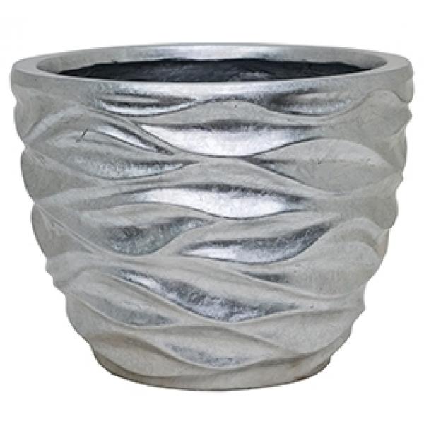 Plantenbak Luxe Lite Glossy Sea silver 40 cm