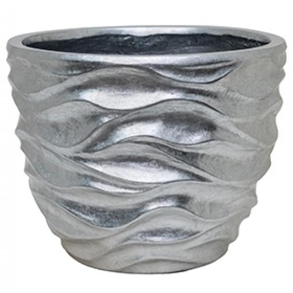 Plantenbak Luxe Lite Glossy Sea silver 45 cm