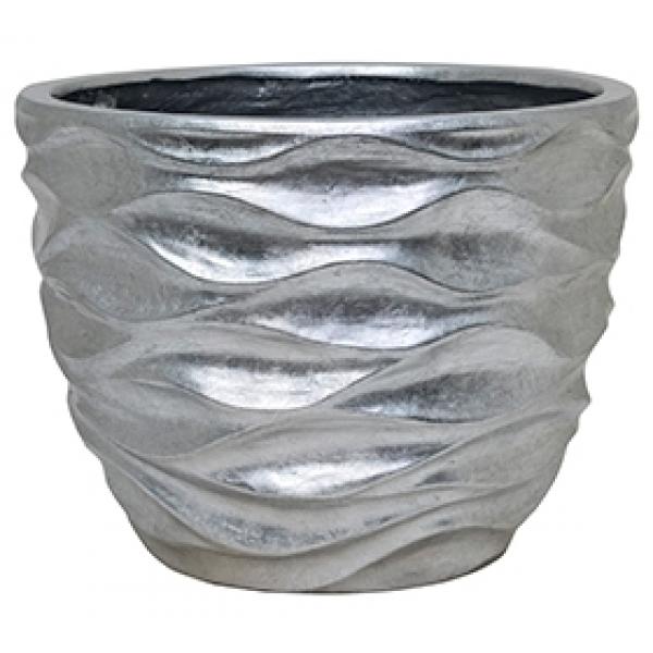 Plantenbak Luxe Lite Glossy Sea silver 50 cm