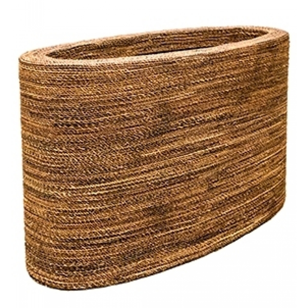 Plantenbak Honey Oval gemaakt van gevlochten touw
