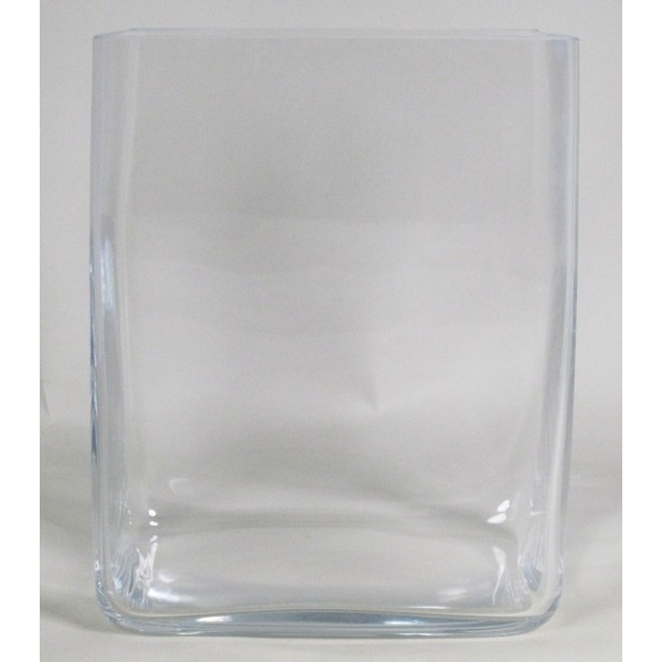 Accubak glas hoog vierkant 20 cm x 30 cm heavy glas