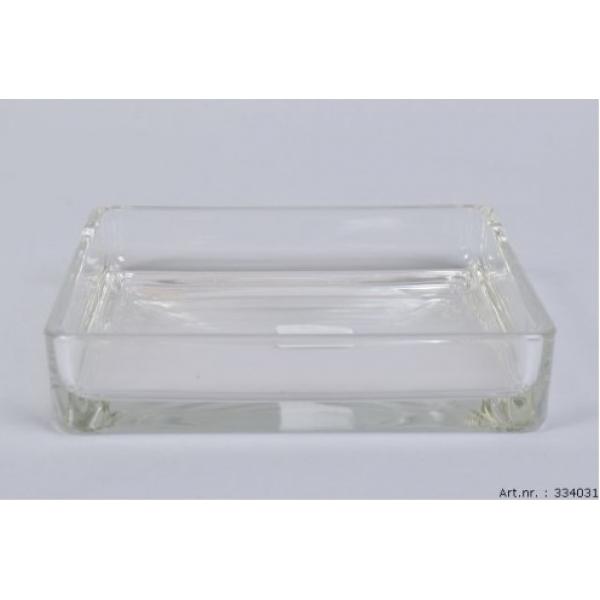 Glazen schaal vierkant 19 cm