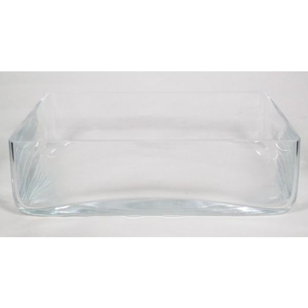 Glazen schaal vierkant 30 cm