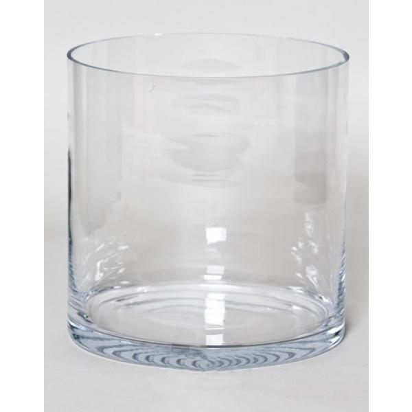 Cilinder vaas glas Ø 34 cm met een hoogte van 35 cm
