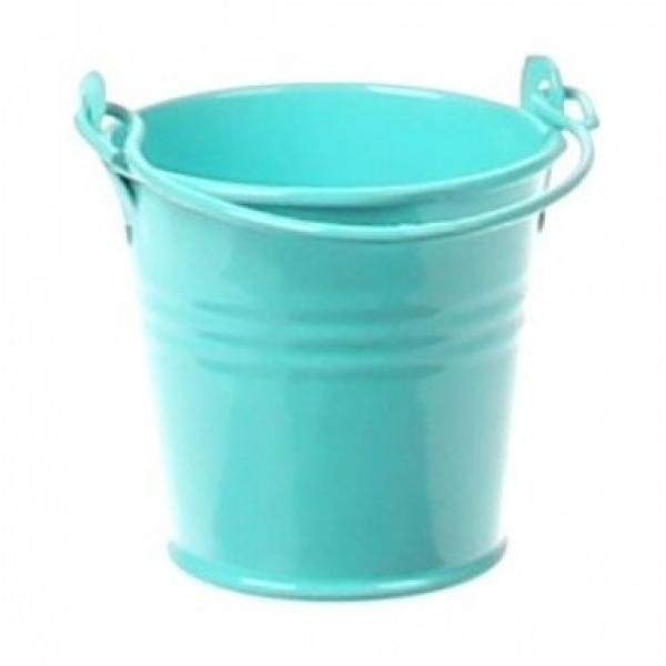Zinken emmertje licht blauw