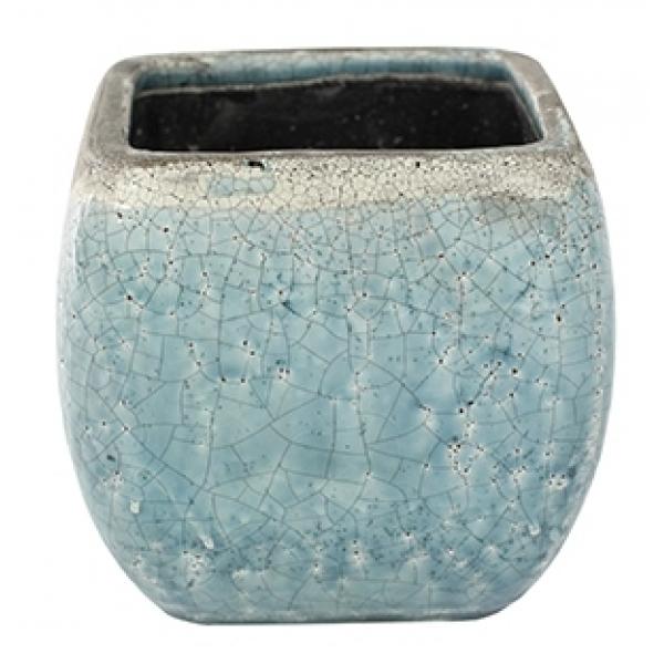 Keramieken bloempot Tijn light blue