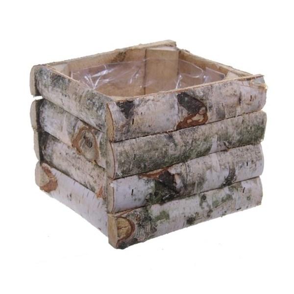 Planter square wood in 2 afmetingen