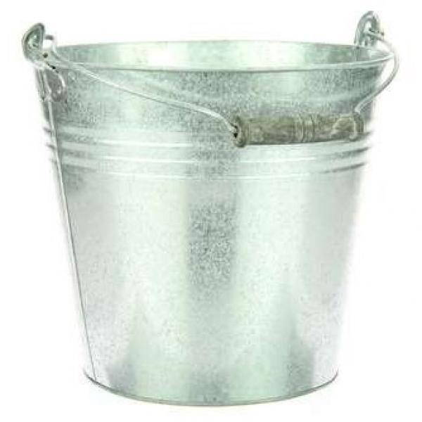 Zinken emmer met hengsel 7 liter