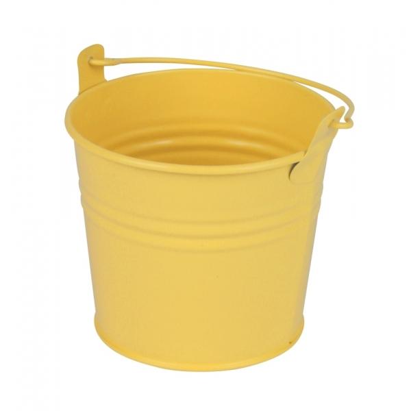 Zinken emmertje geel mat Ø 10
