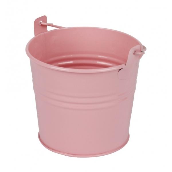 Zinken emmertje roze glans Ø 10