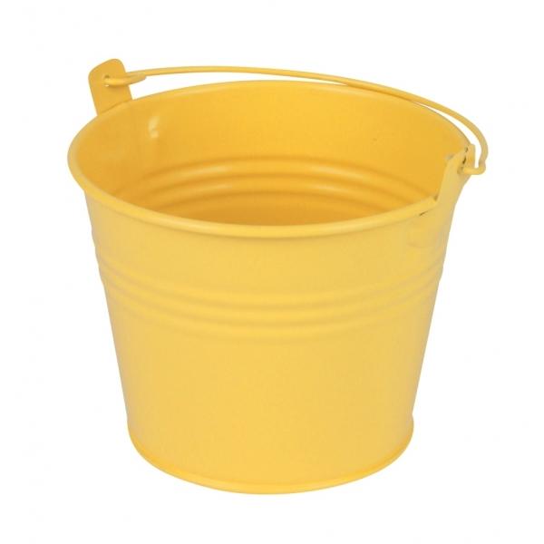 Zinken emmertje geel mat Ø 11