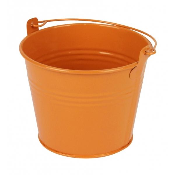 Zinken emmertje oranje glans Ø 11