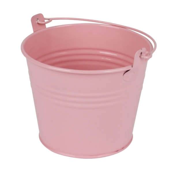 Zinken emmertje roze glans Ø 11