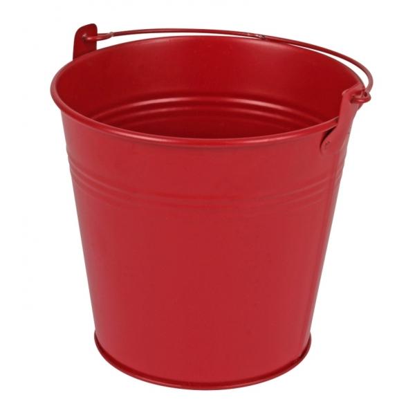 Zinken emmer rood mat Ø 13 cm