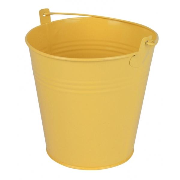Zinken emmer geel mat Ø 15