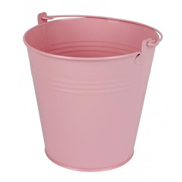 Zinken emmer roze glans Ø 15