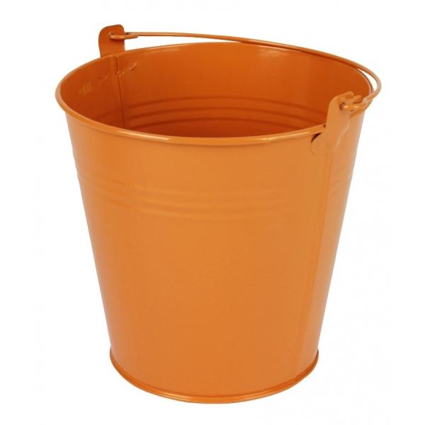 Zinken emmer oranje glans Ø 15