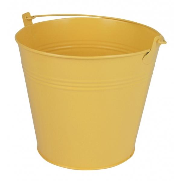 Zinken emmer geel mat Ø 17