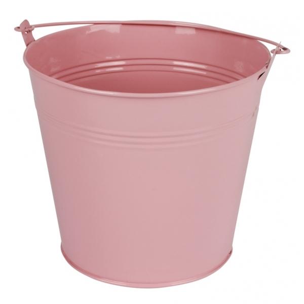 Zinken emmer roze glans Ø 17