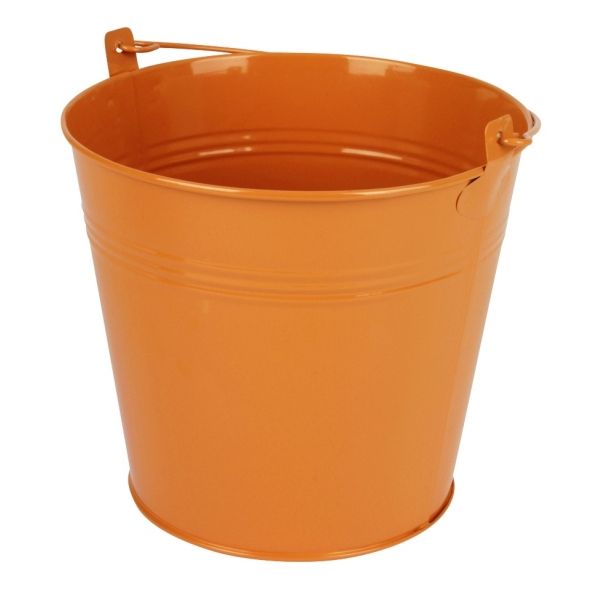 Zinken emmer oranje glans Ø 17