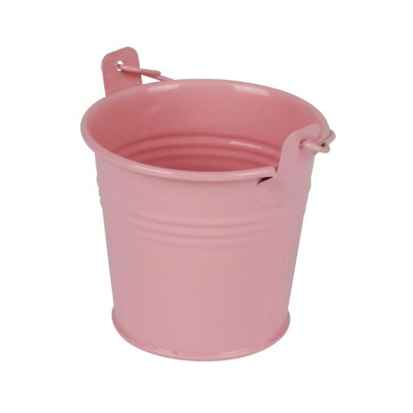 Zinken emmertje roze glans Ø 8