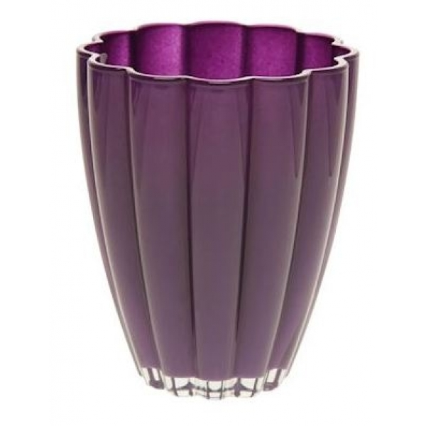 Glaspot gekleurd donker paars