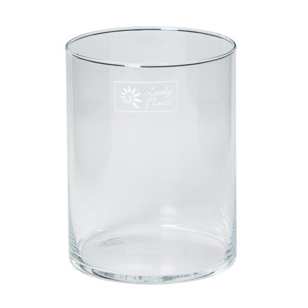 Cilinder vaas glas Ø 11 cm hoogte 15 cm