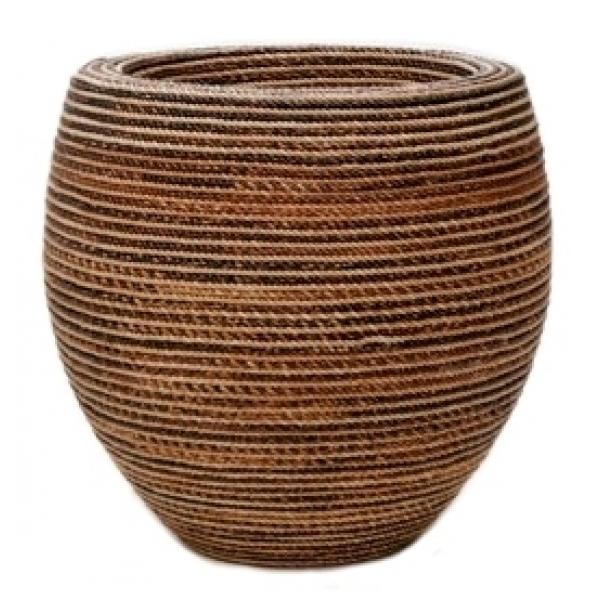 Bloempot Honey gemaakt van gevlochten touw 50 cm