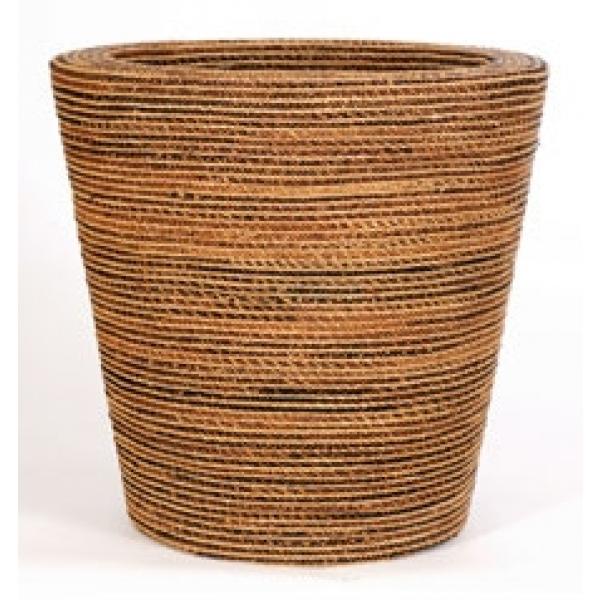 Bloempot Round natural weave
