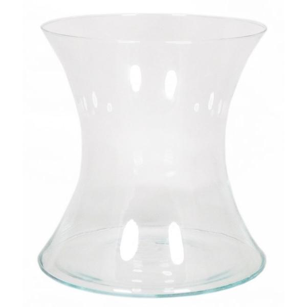 Knikvaas glas 19 cm van dun glas