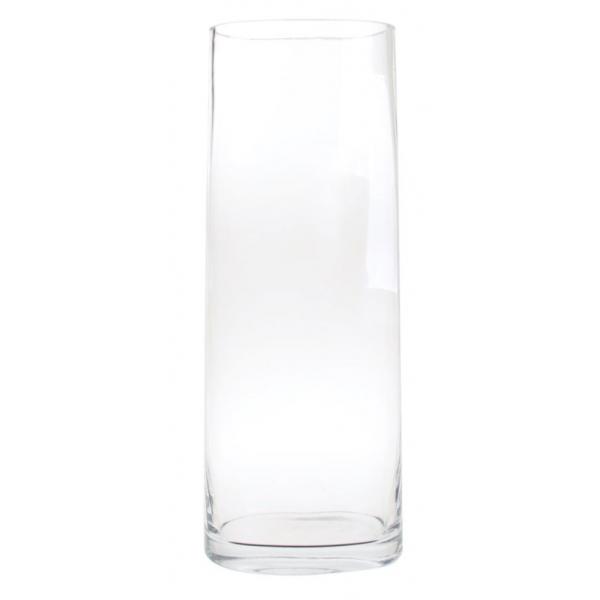 Glazen ovale vaas hoog