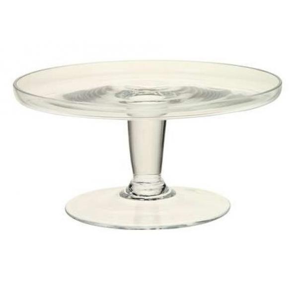 Cake plate van glas in 2 afmetingen