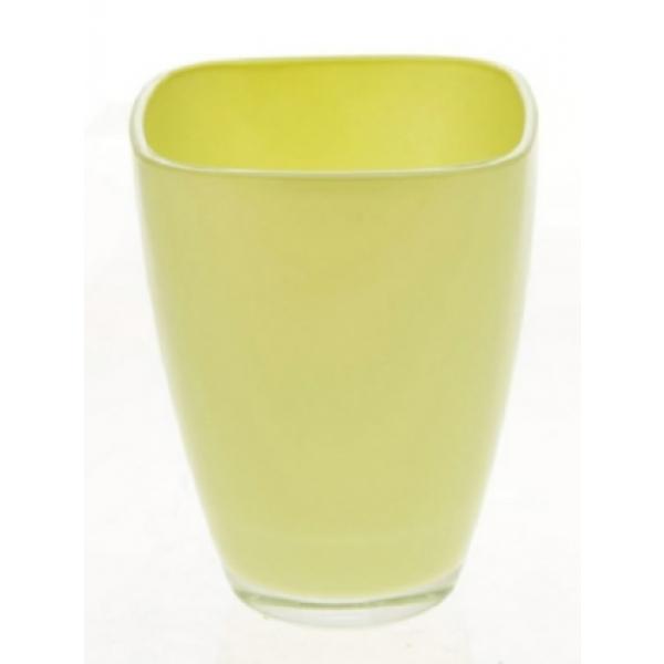 Glaspot gekleurd anijs of hemlock groen heavy glas
