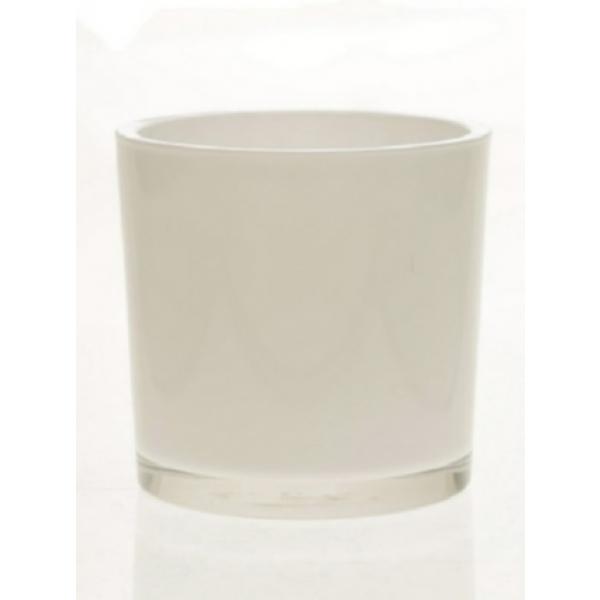 Glaspot Espen wit heavy glas