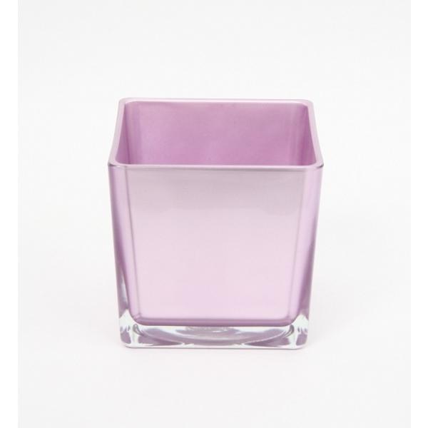 Accubak van gekleurd glas metallic lila heavy glas