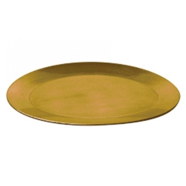Schaal kunststof ovaal goud