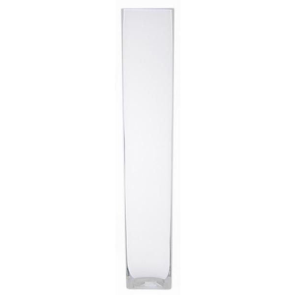 Accuvaas wit glas 10 cm breed 60 cm hoog heavy glas