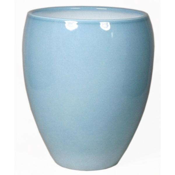Keramieken vaas Rian ijsblauw in meerdere afmetingen