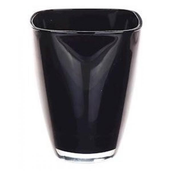 Glaspot gekleurd donker blauw heavy glas