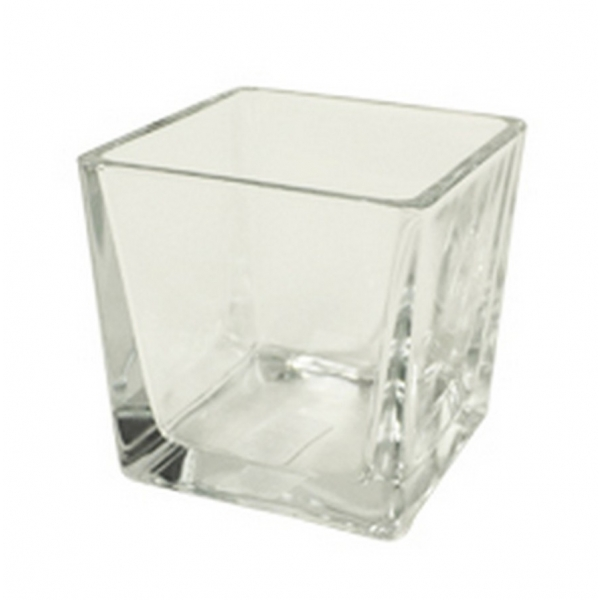Accubak glas vierkant konisch heavy glas 10 cm