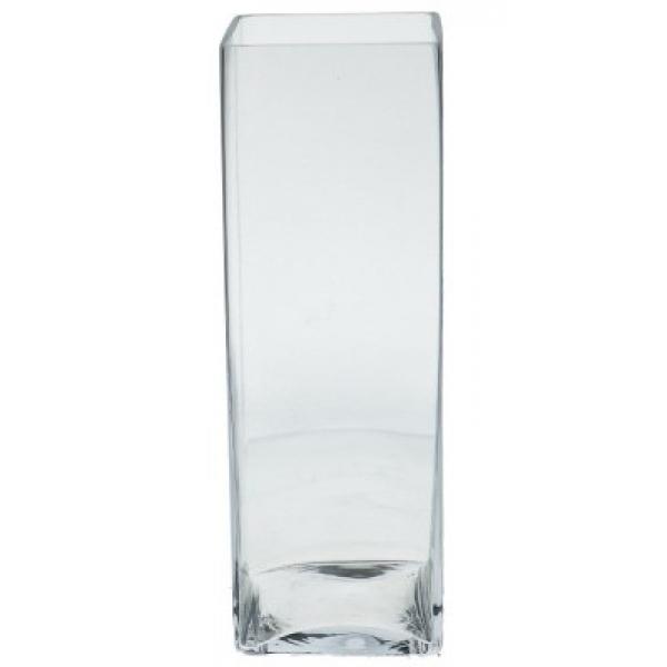 Accuvaas glas langwerpig breed 42 cm hoog